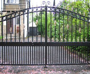 Metal automatic gates